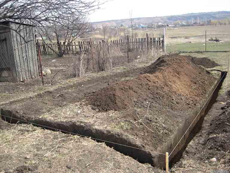 Фундамент сарая