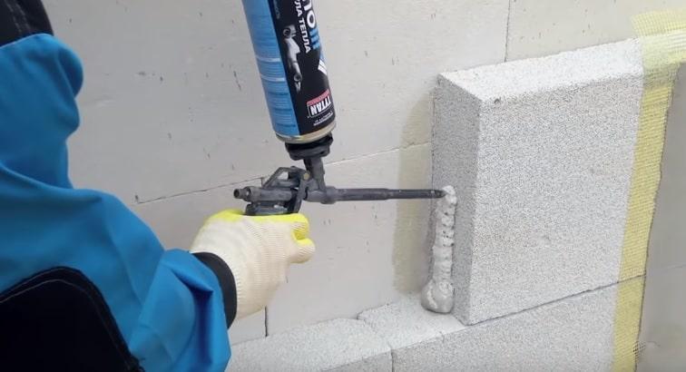 Утепление стен пеноблоком